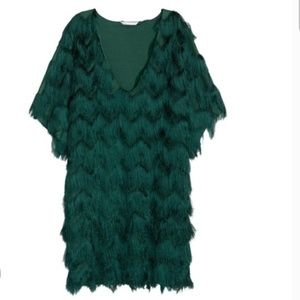 H&M Green Fringe Dress/Top